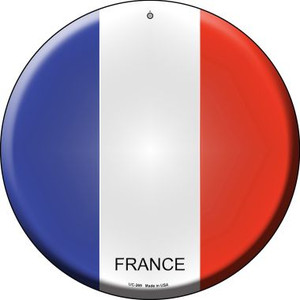France Country Wholesale Novelty Small Metal Circular Sign UC-269