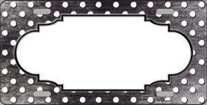 Black White Small Dots Scallop Print Oil Rubbed Wholesale Metal Novelty License Plate