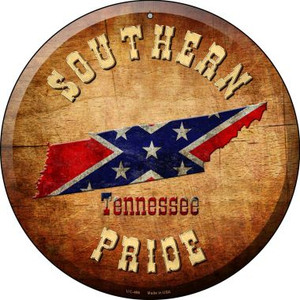 Southern Pride Tennessee Wholesale Novelty Small Metal Circular Sign UC-486