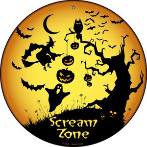 Scream Zone Wholesale Novelty Small Metal Circular Sign UC-502