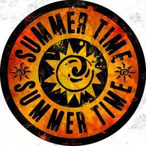 Summer Time Wholesale Novelty Small Metal Circular Sign UC-589