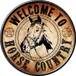 Horse Country Wholesale Novelty Small Metal Circular Sign UC-596