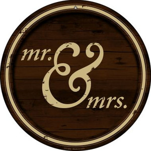 Mr And Mrs Wholesale Novelty Small Metal Circular Sign UC-654