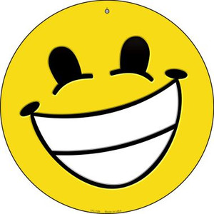 Cheesy Grin Wholesale Novelty Small Metal Circular Sign UC-729