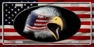 American Flag Eagle Novelty Wholesale Metal License Plate LP-1317