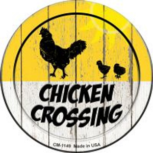Chicken Crossing Wholesale Novelty Mini Metal Circle Magnet CM-1149