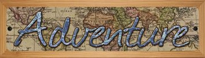 Adventure Wholesale Novelty Wood Mounted Small Metal Street Sign WB-K-1438