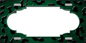 Green Black Cheetah Scallop Print Oil Rubbed Wholesale Metal Novelty License Plate