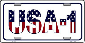 USA 1 Novelty Wholesale Metal License Plate LP-132