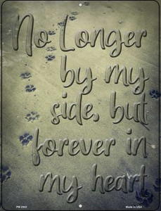 Forever In My Heart Wholesale Novelty Mini Metal Parking Sign PM-2953