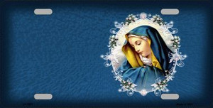Virgin Mary Wholesale Metal Novelty License Plate
