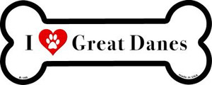 I Love Great Danes Wholesale Novelty Metal Bone Magnet B-140