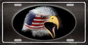 American Flag Eagle Black Novelty Wholesale Metal License Plate LP-1320