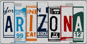 Arizona License Plate Art Wholesale Metal Novelty License Plate