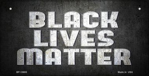 Black Lives Matter Faded Wholesale Novelty Metal Bicycle Plate BP-13605