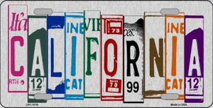 California License Plate Art Wholesale Metal Novelty License Plate