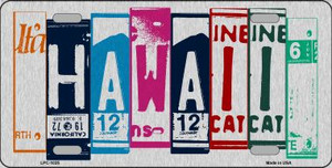 Hawaii License Plate Art Brushed Aluminum Wholesale Metal Novelty License Plate