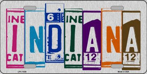 Indiana License Plate Art Brushed Aluminum Wholesale Metal Novelty License Plate