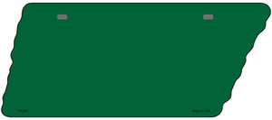 Green Solid Wholesale Novelty Metal Tennessee License Plate Tag TN-003