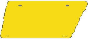 Yellow Solid Wholesale Novelty Metal Tennessee License Plate Tag TN-005