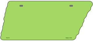 Lime Green Solid Wholesale Novelty Metal Tennessee License Plate Tag TN-013