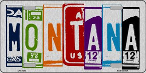 Montana License Plate Art Brushed Aluminum Wholesale Metal Novelty License Plate