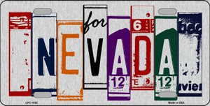 Nevada License Plate Art Brushed Aluminum Wholesale Metal Novelty License Plate