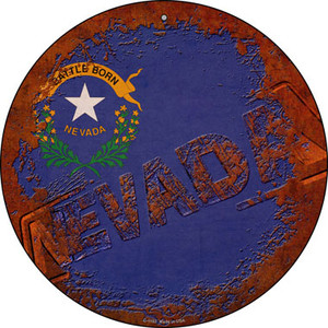 Nevada Rusty Stamped Wholesale Novelty Metal Circular Sign C-1193