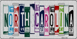 North Carolina License Plate Art Brushed Aluminum Wholesale Metal Novelty License Plate