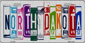 North Dakota License Plate Art Brushed Aluminum Wholesale Metal Novelty License Plate