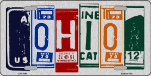 Ohio License Plate Art Brushed Aluminum Wholesale Metal Novelty License Plate