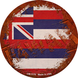 Hawaii Rusty Stamped Wholesale Novelty Mini Metal Circle Magnet CM-1176