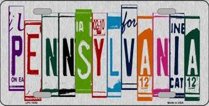 Pennsylvania License Plate Art Brushed Aluminum Wholesale Metal Novelty License Plate