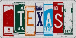 Texas License Plate Art Brushed Aluminum Wholesale Metal Novelty License Plate