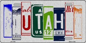 Utah License Plate Art Brushed Aluminum Wholesale Metal Novelty License Plate LPC-1058