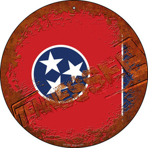 Tennessee Rusty Stamped Wholesale Novelty Small Metal Circular Sign UC-1207