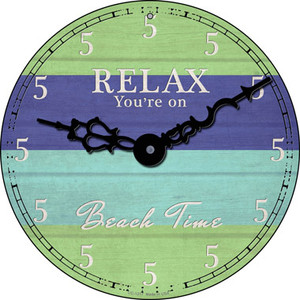 Youre On Beach Time Wholesale Novelty Small Metal Circular Sign UC-1217