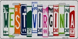 West Virginia License Plate Art Brushed Aluminum Wholesale Metal Novelty License Plate LPC-1062