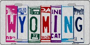 Wyoming License Plate Art Brushed Aluminum Wholesale Metal Novelty License Plate LPC-1064