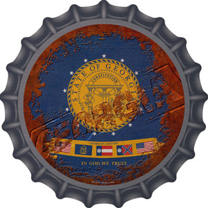 Georgia Rusty Stamped Wholesale Novelty Metal Bottle Cap BC-1175