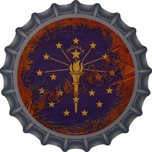 Indiana Rusty Stamped Wholesale Novelty Metal Bottle Cap BC-1179