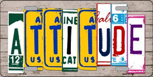 Attitude License Plate Art Wood Pattern Wholesale Metal Novelty License Plate