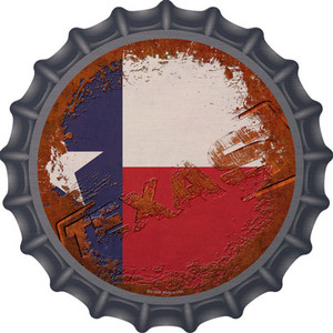 Texas Rusty Stamped Wholesale Novelty Metal Bottle Cap BC-1208