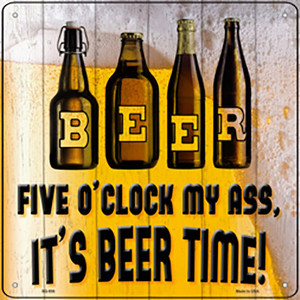 Its Beer Time Wholesale Novelty Metal Square Sign SQ-936