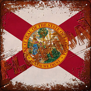 Florida Rusty Stamped Wholesale Novelty Metal Square Sign SQ-951