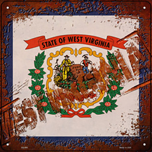 West Virginia Rusty Stamped Wholesale Novelty Metal Square Sign SQ-990