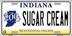 Sugar Cream Indiana Novelty Wholesale Metal License Plate