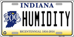 Humidity Indiana Novelty Wholesale Metal License Plate