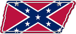 Confederate Flag Wholesale Novelty Metal Tennessee License Plate Tag TN-075