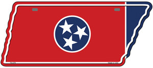 Tennessee Flag Wholesale Novelty Metal Tennessee License Plate Tag TN-076
